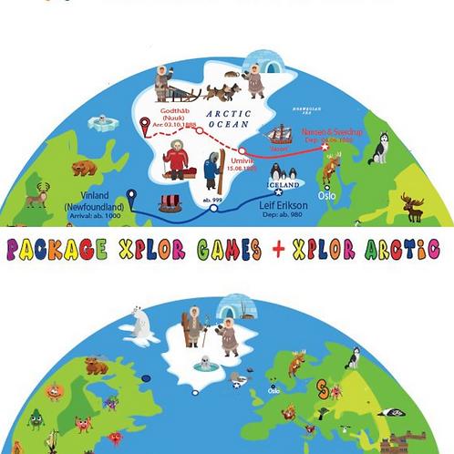 Package French Xplor Games + Xplor Arctic