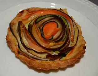 Spiral terte med grønnsaker