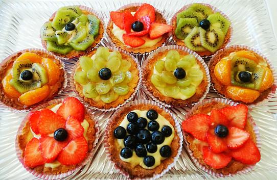 Franske deserter (Terter med frukt eller sitron meringue...)