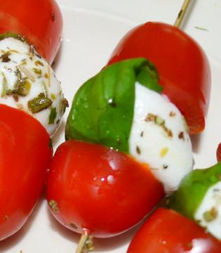 Tapas tomat mozzarella