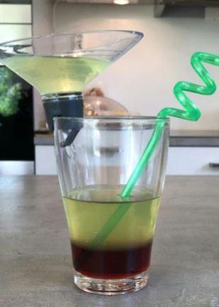 Preparing a rainbow drink.JPG