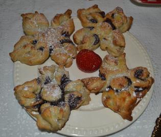 Stjerne kake med nutella