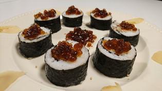 Sushi med soja pearls