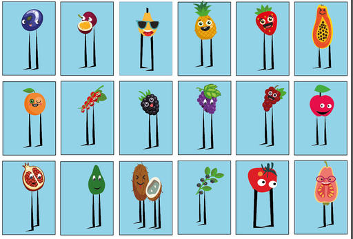We learn about all the fruits collected during the game