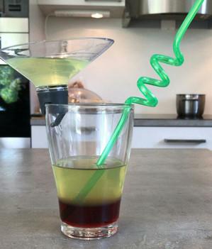 Preparing our rainbow cocktail