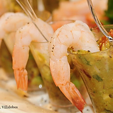 Verrines Scampi avocado