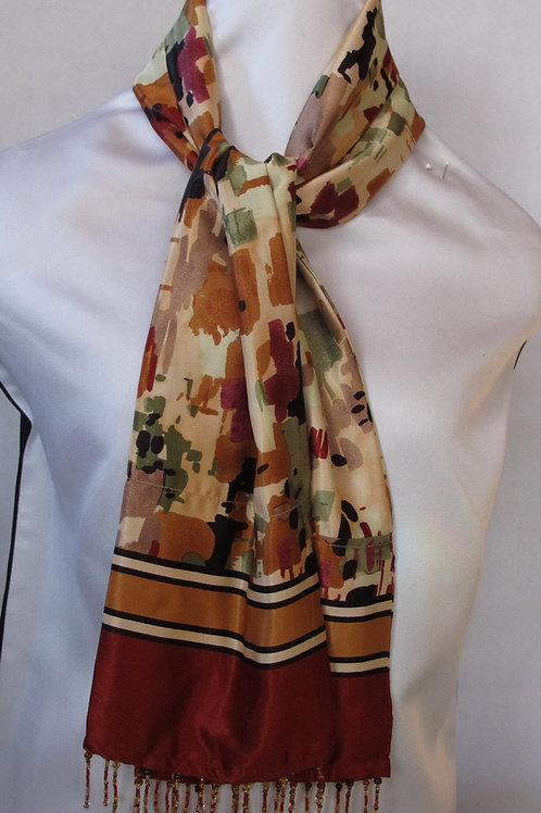 Abstract Print Silky Scarf
