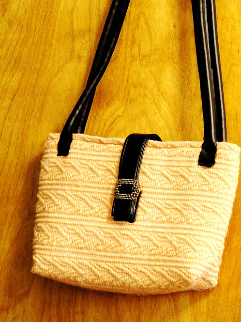Peach Cable Tote