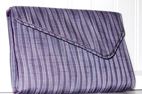 Lines of Lavender Clutch