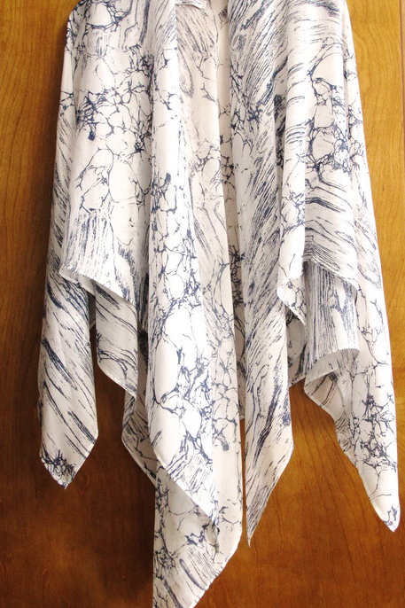 White Marbled Summer Wrap