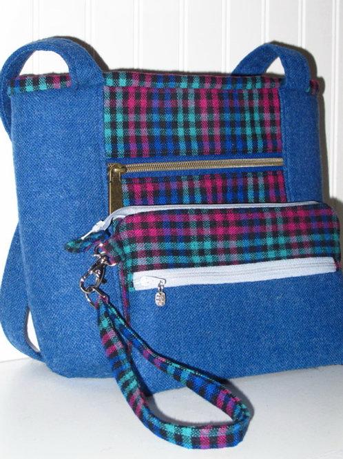 Jewel Plaid Wool Wristlet