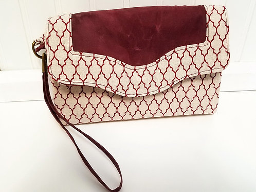 Burgundy and Cream Wallet