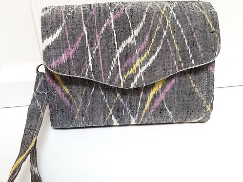 Grey Silk Wallet