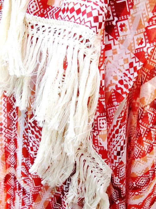 Southwest Print Chiffon Wrap