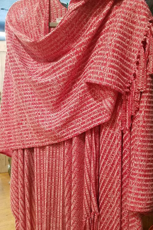 Red Tweed Knit Wrap