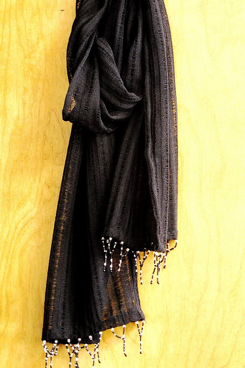 Black Lacey Scarf