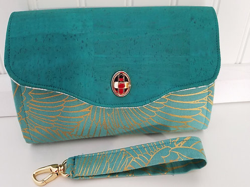 Teal and Gold Wallet
