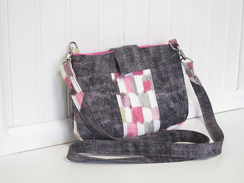 Grey and Pink Shoulder Bag