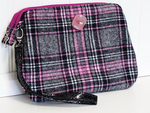 Pink and Grey Winter Flannel