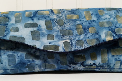 Blue and Gold Batik Wallet