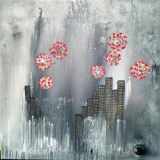 Covid Can't Eclipse Manhattan // Nuha Moretz — Fine Art