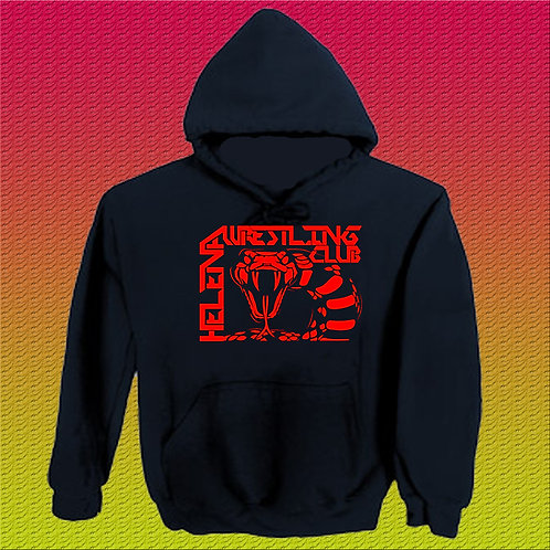 Black Hoodie with Red Logo