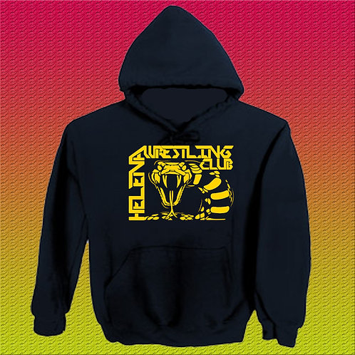 Black Hoodie with Yellow Logo