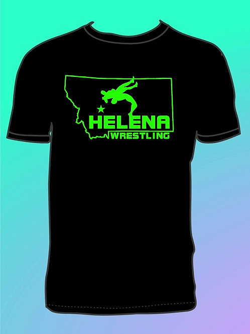 Helena Wrestling State Outline T-shirt
