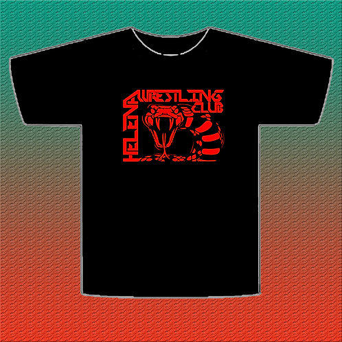 Black T-Shirt with Red Logo