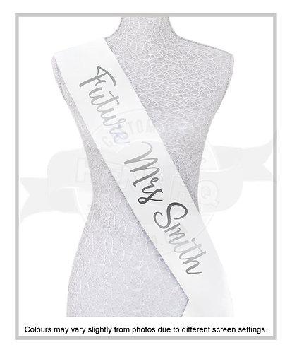 """Style 19"" Hens & Bridal Shower Printed Sash"