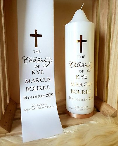 """Christening""  Stole & Candle set"