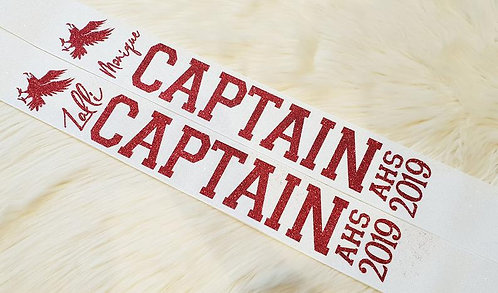 """CAPTAIN/SENIOR"" FULL GLITTER SASH"