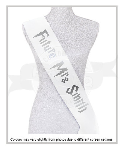 "Harry Potter Inspired ""Future Mrs""Printed sash"