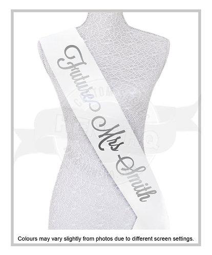 """Style 11"" Hens & Bridal Shower Printed Sash"