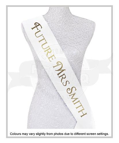 """Style 10"" Hens & Bridal Shower Printed Sash"