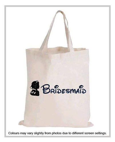 """Disney Inspired Silhouette"" Glitter Tote Bag"