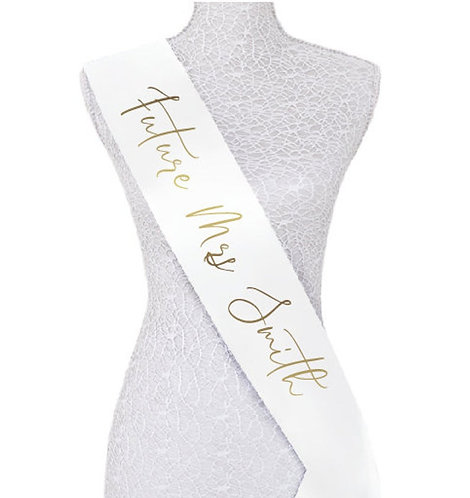 """Style 21"" Hens & Bridal Shower Printed Sash"