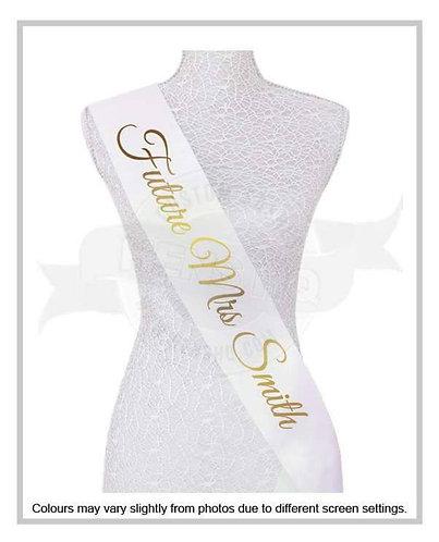 """Style 4"" Hens & Bridal Shower Printed Sash"