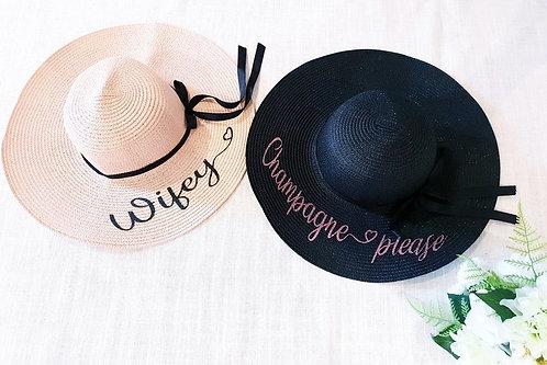 """Custom Text"" Beach Hat"