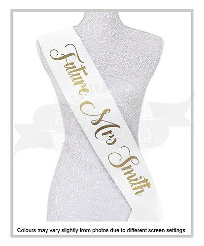 """Style 9"" Hens & Bridal Shower Printed Sash"