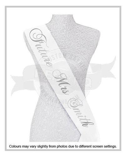 """Style 2"" Hens & Bridal Shower Printed Sash"
