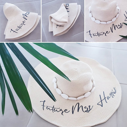 Bride Future Mrs Party Beach Hat