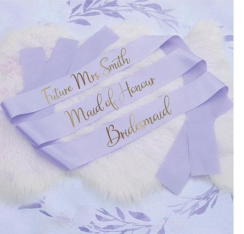 Style 28 Hens & Bridal Shower Printed Sash