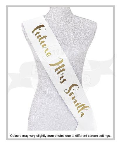 """Style 20"" Hens & Bridal Shower Printed Sash"
