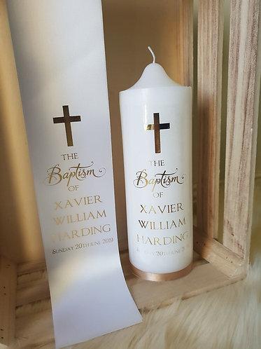 """""""Baptism"""" Stole & Candle Set"""