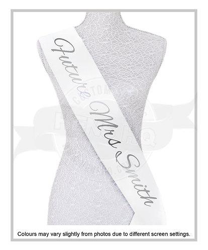 """Style 3"" Hens & Bridal Shower Printed Sash"