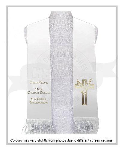 """Dove Cross"" Baptism Stole"