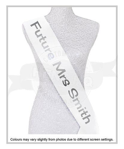 """Style 12"" Hens & Bridal Shower Printed Sash"