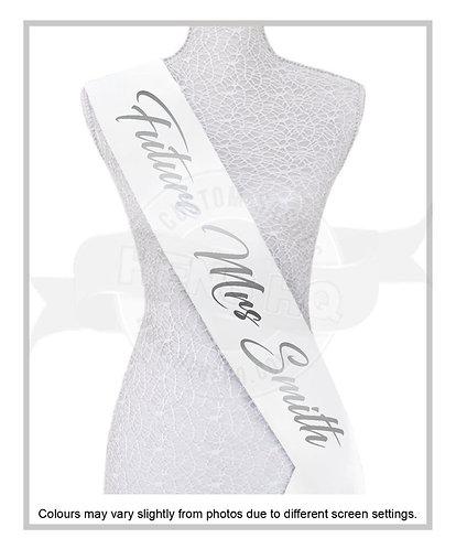 """Style 18"" Hens & Bridal Shower Printed Sash"