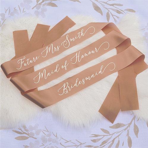 """Style 22"" Hens & Bridal Shower Printed Sash"